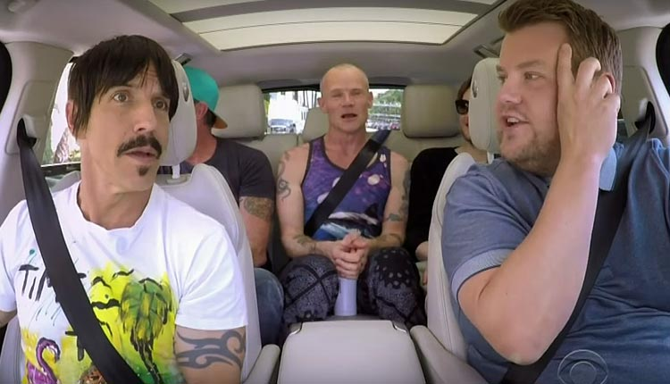 Carpool Karaoke com James Corden e Red Hot Chilli Peppers!