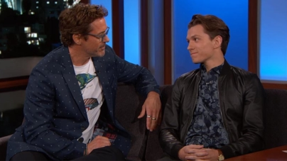 RDJ e Tom Holland dão entrevista divertida para o Jimmy Kimmel Live!